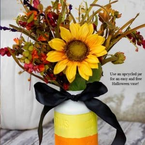 Candy Corn Color Dipped Vase