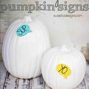 Quick and Easy Talking Pumpkin Signs