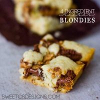4 Ingredient Reeses Blondies