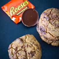 4 Ingredient Reeses Peanut Butter Cup Cookies