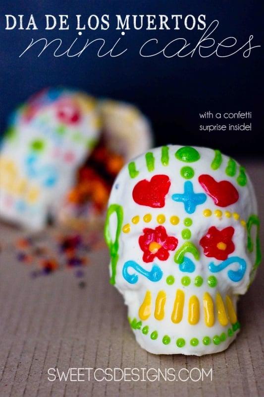 Dia De Los Muertos Mini Confetti Cakes