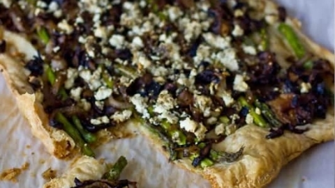 Puff Pastry Feta and Veggie Pizza