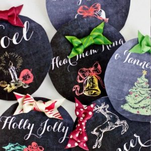 Christmas Chalkboard Printable Gift Tags