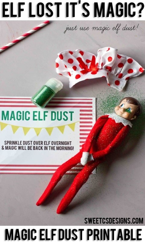 photo about Elf on the Shelf Printable called Elf upon a Shelf Magic Filth Printable - Lovable Cs Options