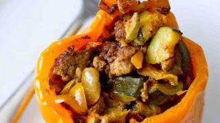 Paleo Chorizo Stuffed Peppers