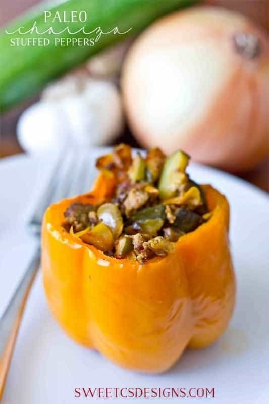 Paleo Chorizo Stuffed Peppers