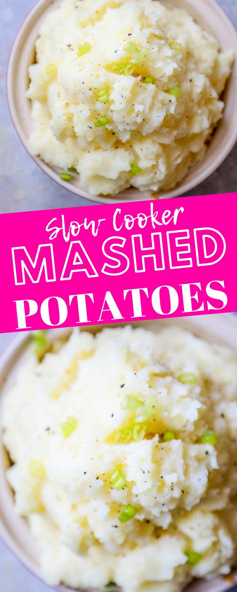 Slow Cooker Mashed Potatoes - Sweet Cs Designs