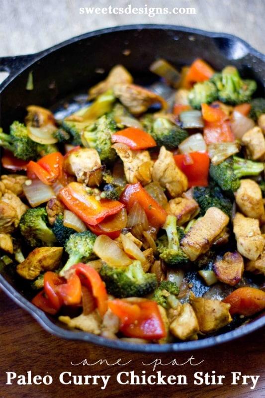 Paleo spicy thai chicken stir-fry