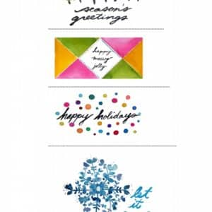 Boho Chic Handpainted Christmas Gift Tags Printable