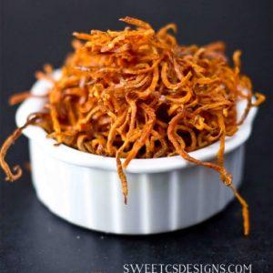 Crispy Baked Shoestring Sweet Potato Fries
