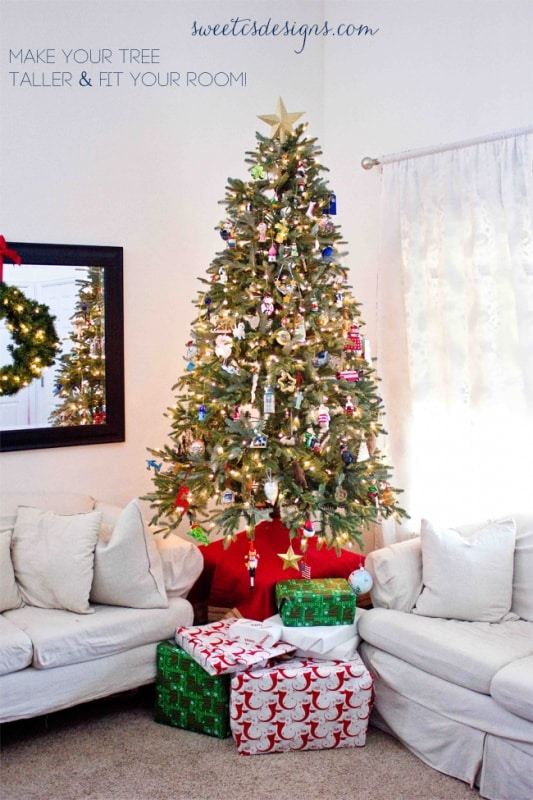 Make Your Tree Taller   This Is An Awesome Tip To Use Smaller Trees In