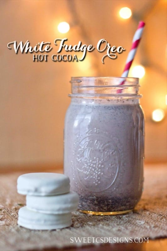 white fudge oreo hot cocoa- so good and so easy to make!