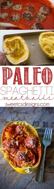 Spaghetti and meatballs- all the flavor without any carbs! Paleo friendly!