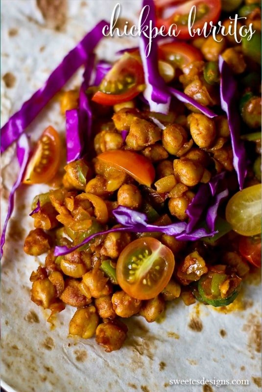Chickpea burritos- this vegan meal is so delicious and perfect for lent!