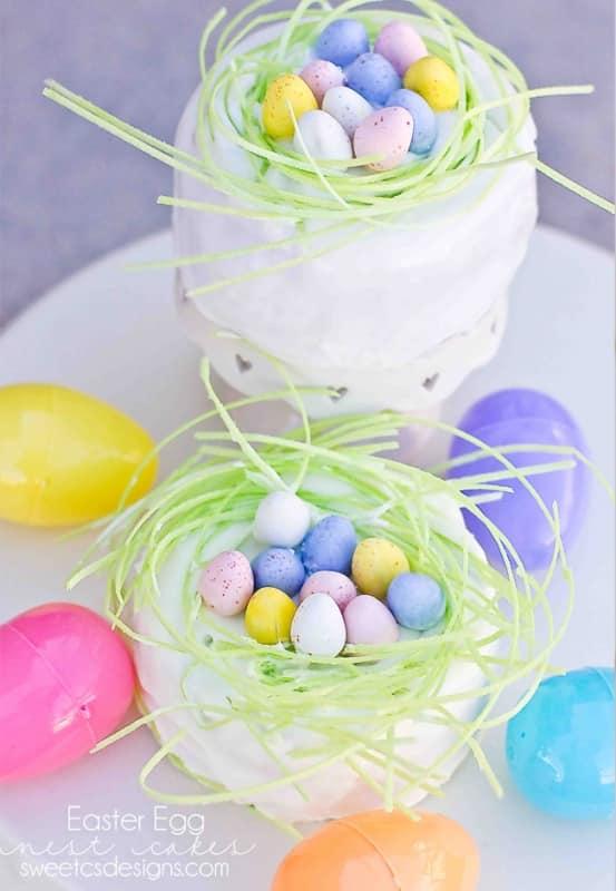 Easter Egg Nest Cakes Sweet Cs Designs