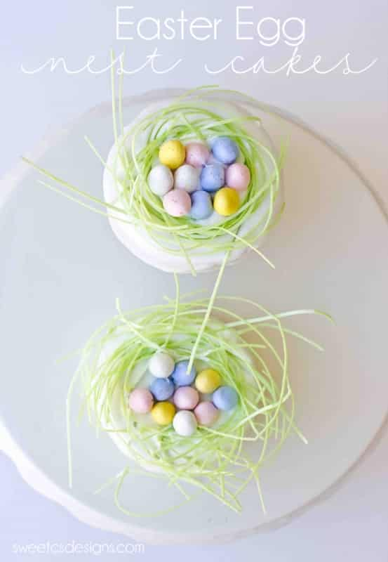 Easter egg nest cakes- these are so easy to make and super delicious!