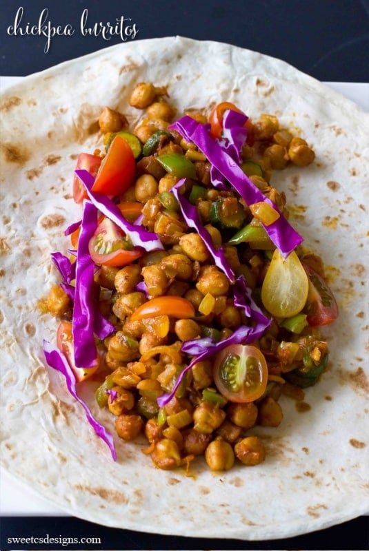 vegan burritos that actually taste good- these chickpea burritos are amazing!