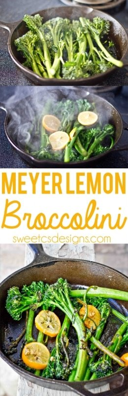 Meyer Lemon Broccolini- this is a delicious way to make broccolini in a few minutes!