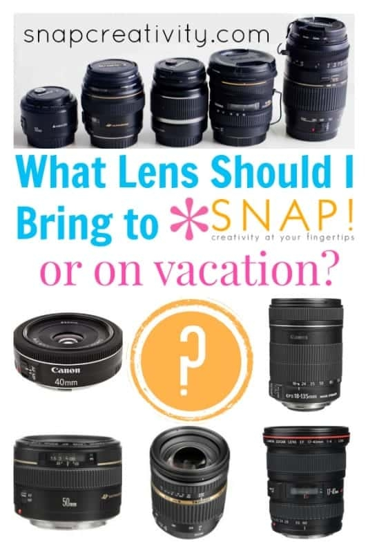 What Lens to Bring to the SNAP! Conference or on Vacation