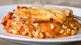 Gluten and Grain Free Eggplant Lasagne