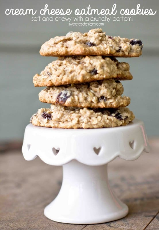 these are the best oatmeal raising cookies- they stay perfectly chewy and soft, and have a crunchy base!