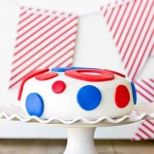 4th of July Polka Dot Cake