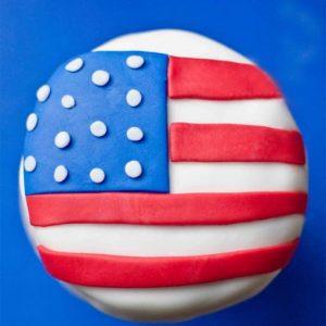 American Flag Mini Cakes