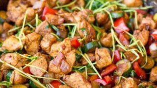 One Pot Low Carb Paleo Keto Asian Chicken Stir Fry