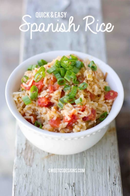 Quick and Easy homemade spanish rice- never use a box again!