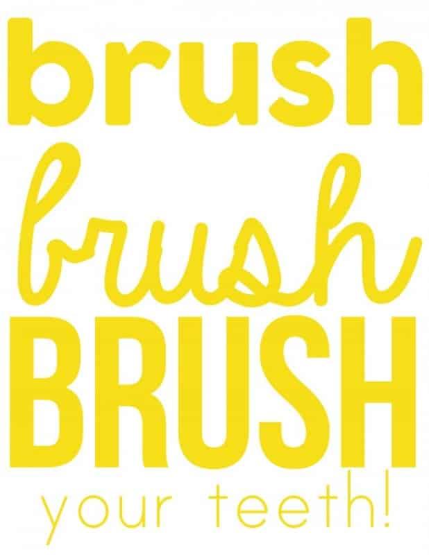 brush your teeth yellow