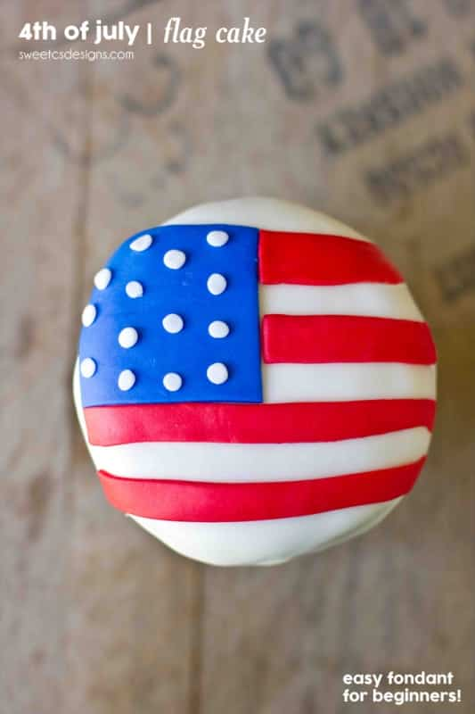 quick and easy American flag cakes