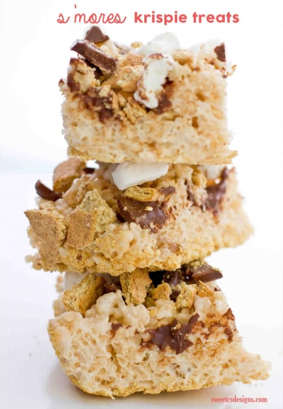 smores krispie treats- these are SO addictive!