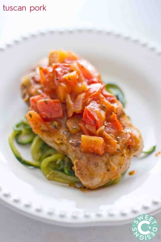 tuscan pork- a delicious meal your whole family will love!