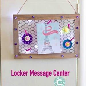 Locker Message Center