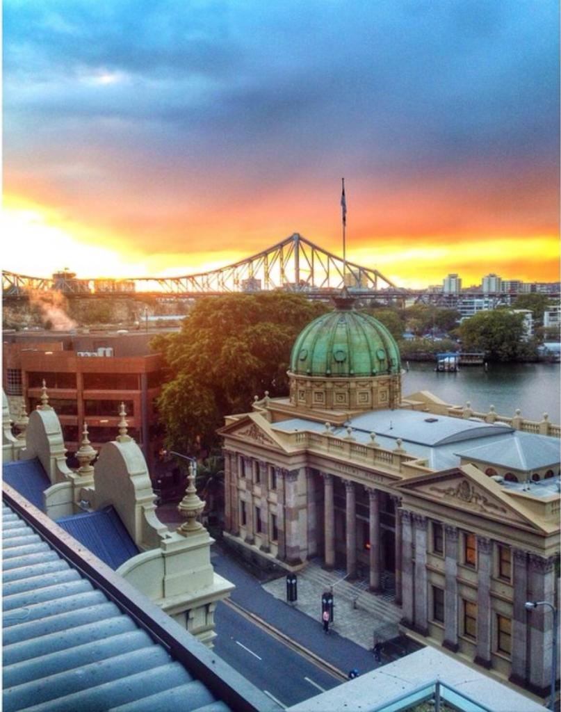 View from the Oaks Aurora Hotel- Brisbane Australia