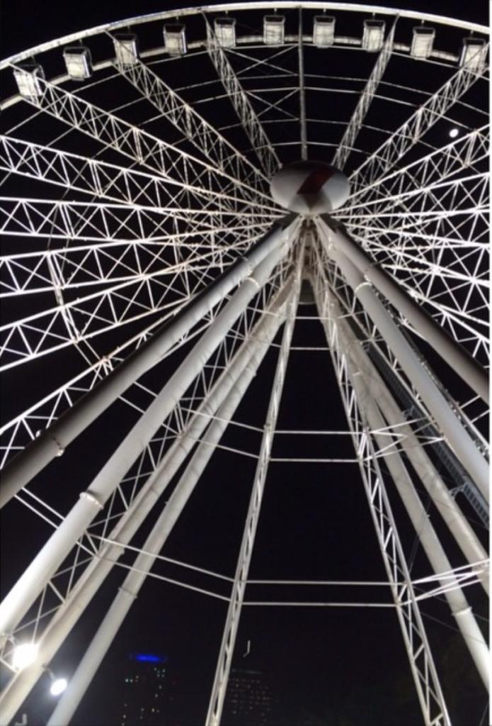 Wheel of Brisbane at night- south bank Brisbane Australia