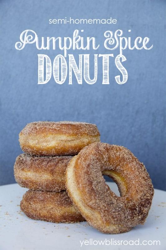 semi homemade pumpkin spice donuts