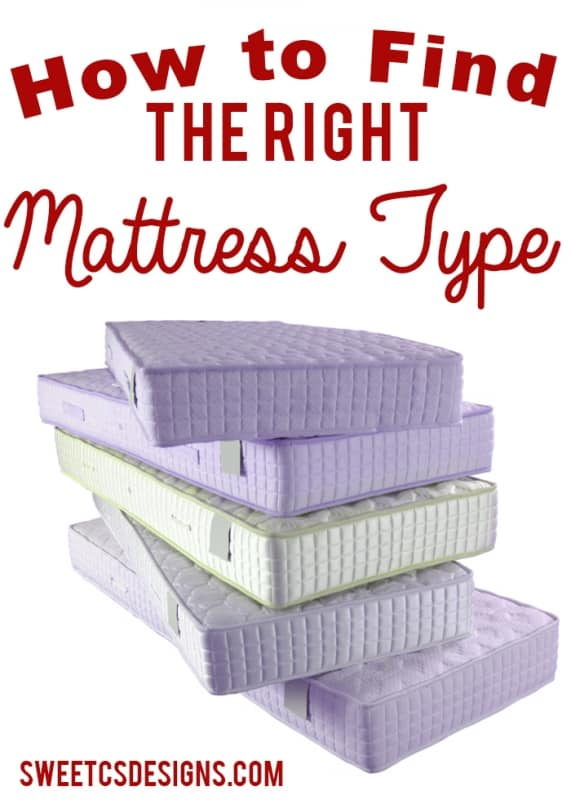 How to find the right mattress- from inerspring to tempurpedic and different bases- what they all mean!