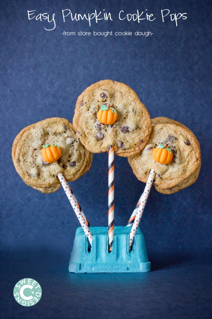 Need adorable cookies quick- Make cookie pops from storebought dough with these tips!