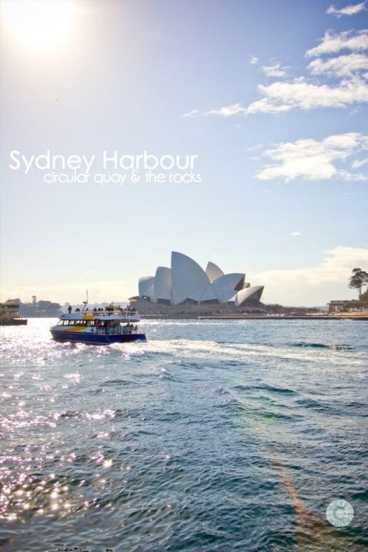 Sydney Harbour- suhc a gorgeous, fun place to visit!