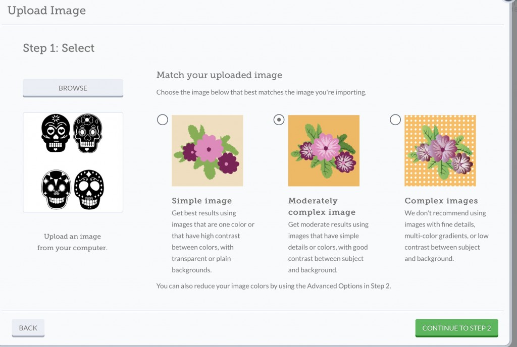 Upload an image into cricut design space