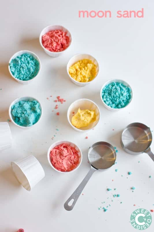 moon sand- a super soft, simple and easy to mix homemade playdough!