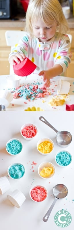 moon sand- our kids favorite soft homemade paydough!
