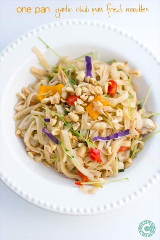 one pan garlic and chili stir fried noodles