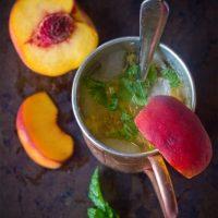 Peach and Mint Gin Mule
