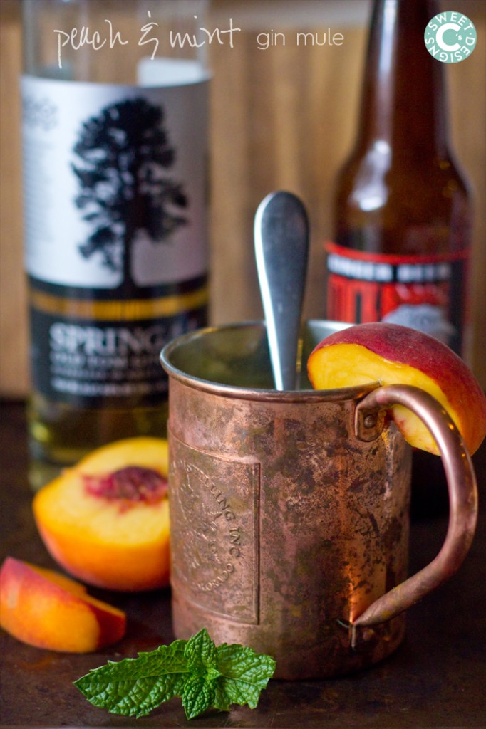 peach and mint moscow mule- refreshing and delicious!