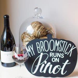 DIY Chalkboard Halloween Wine Sign