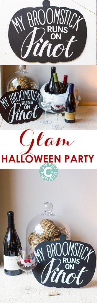 Easy DIY ideas for a gorgeously glam halloween party!