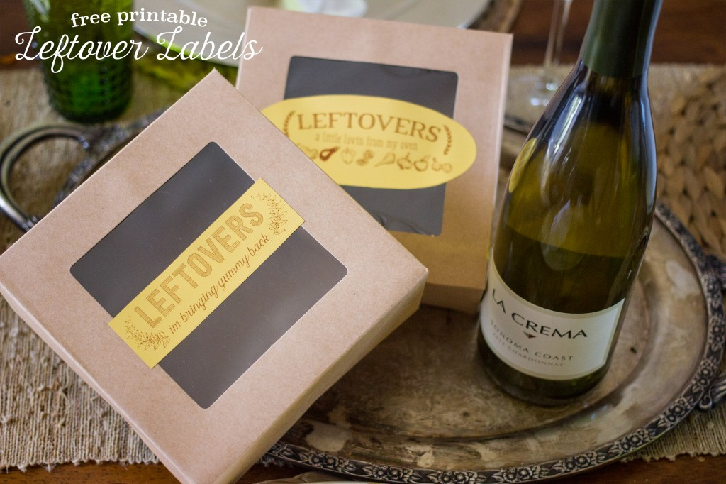 Free printable leftover labels- these are an adorable way to dress up leftovers for guests!