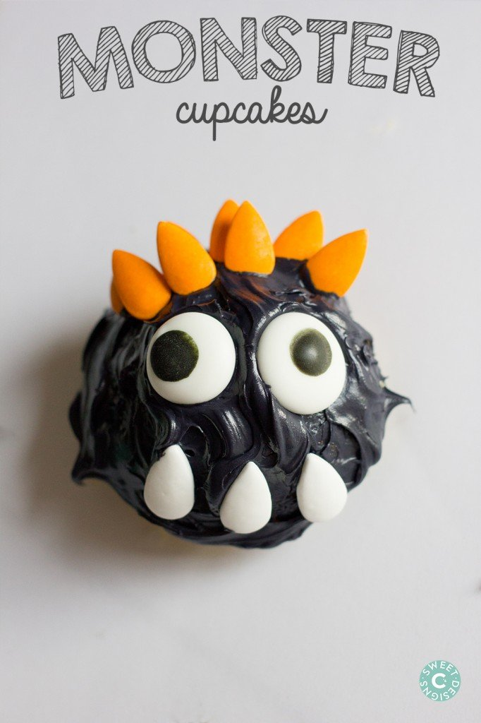 Googly eye monster cupcakes- my kids would have a blast making these!